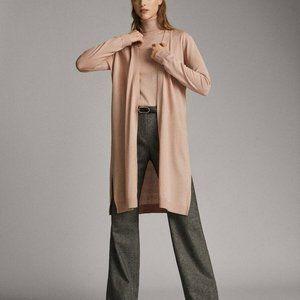Massimo Dutti Womens Pink Cardigan Sweater Size XS